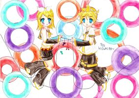 Kagamine Rin and Len by KiGaMin