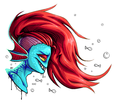 Undyne and Fishes! by BelieveTheHorror