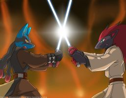 Poke Star Wars - Duel on Mustafar by Yuuyatails