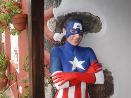 Capitan America Bodypaint by NiliaStyle