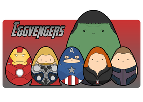 The Eggvengers by ommy-noms