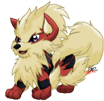 Akru the little Arcanine by Kitrei-Sirto