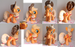My third plushie - Applejack!  (SOLD) by moggymawee