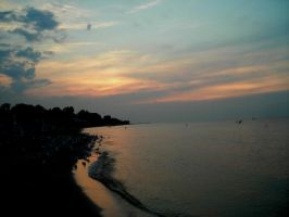 sunsetting on lake ontario by cliford417