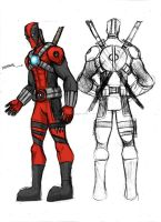 DEADPOOL COSTUME REDESIGN by Sabrerine911