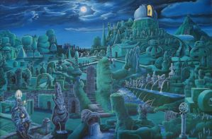 The Observatory Gardens at Night by Tolkyes