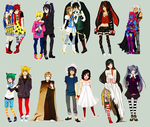 fullbody commission set 2 by animegirl000