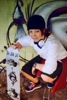 K - Yata Misaki and Skateboard by Majin-sama