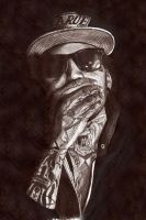 Kid Ink pen portrait by Craig-Stannard