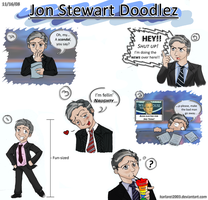 Jon Stewart Doodlez -color- by karlarei2003