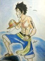 In memory of Portgas D.Ace by Adamichi