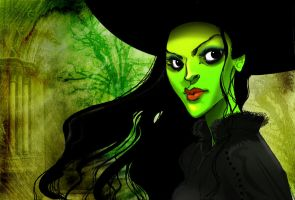 Wicked - Elphaba by Sally-Avernier