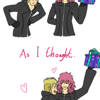 Demyx and Marluxia by Kozekito
