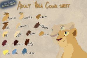 Adult SP Nala color sheet by Takadk