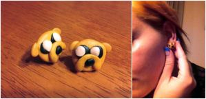 Adventure Time - Jake Earrings by KateBloomfield