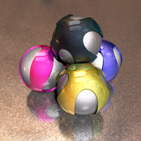 Pearlescent Spheres by fence-post