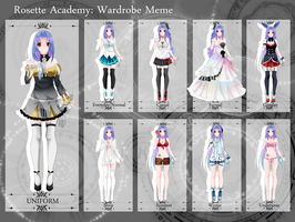 [RA] : Ward drobe meme Arisa's clothes by Mielluu