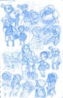sketchbook::crash and homestuck sketches by Moguryuu