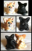 Sculpey Kitties by Kata