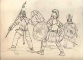 Celts v Hoplite by residentsmooth