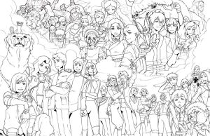 Avatar tribute line art by RustyArtist