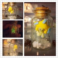Jirachi in a bottle by LimitlessDreamer