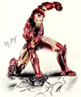 Iron Man coloured by BlaqkElectric