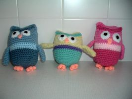 Owl family commission by Nanettew9
