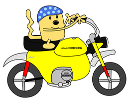 Wubbzy on a monkey bike by dev-catscratch