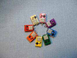 Charms: Gameboy Color by okapirose