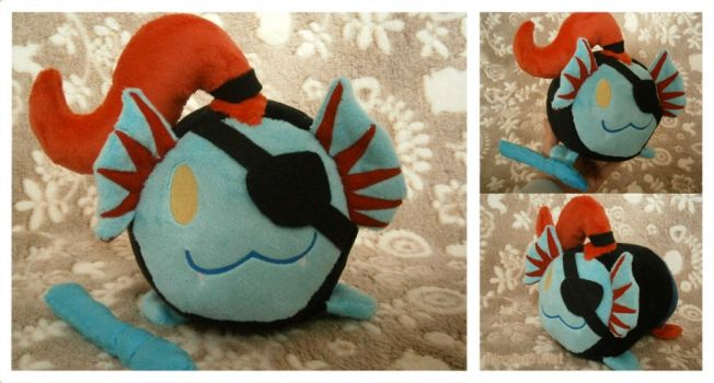 Handmade Large Undyne Tsum Tsum by HipsterOwlet