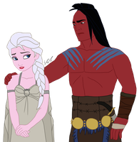 Disney x GoT - Daenerys and Khal Drogo by Qemma