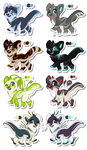 [OPEN] Unnatural Canines SET 3 by Roqe-Adopts