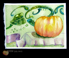 Ripple Pumpkin Swirl - ACEO by unSpookyLaughter