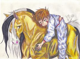 A Boy and His Horse by mw-roach