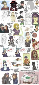 March scribbles by anHOURofLOVE