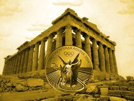 parthenon and a gold medal by puddlz