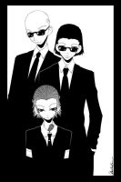 3 suits by okashichan
