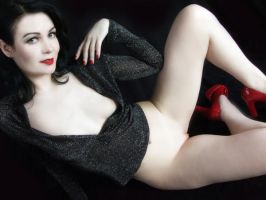 Sparkle Top-New Red Shoes II by Snapfoto