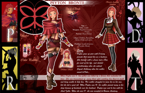 RWBY OC: Peyton Reference by BlissClouds