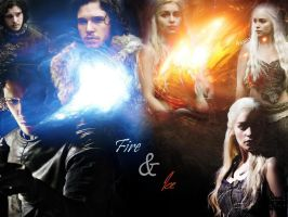 Jon and Daenerys Wallpaper AU by 25djadja