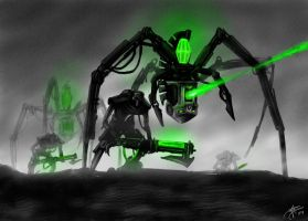 Necron Walkers by tacticangel