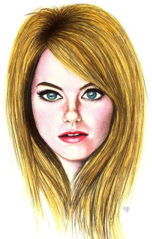 Emma Stone by subhankar-biswas