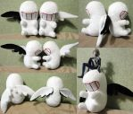 Mass Production EVA chibi plushies by Rens-twin