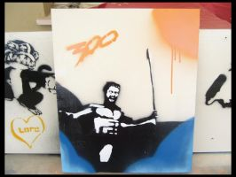 300 Stencil Tribute ... by DaSigner