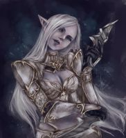 Lineage 2 Dark elf by DrearyBurn