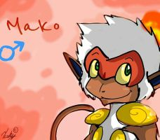 Random doom genderbends Mako the infernape by StonetailsV9