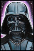 ESB Vader Sketch Card by MJasonReed