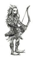 Gelfling archer by eoghankerrigan