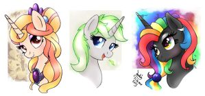 MLP FIM OC - Other peoples characters 04 by Joakaha